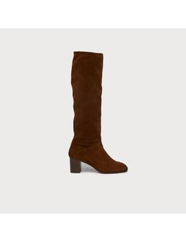 Esti Brown Suede Knee Boots by L.K.Bennett
