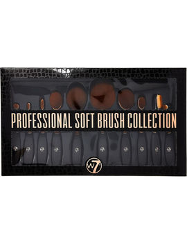 10 Piece Black & Rose Gold Tone Brush Set by W7