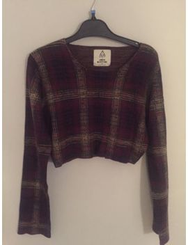 Urban Outfitters Unif Tartan Red Cropped Jumper Uk10 by Ebay Seller