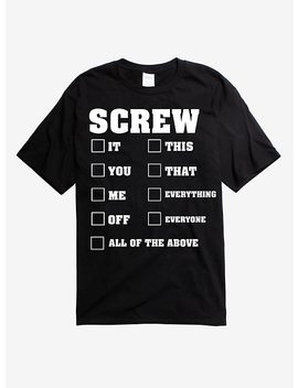 Screw Checklist T Shirt by Hot Topic