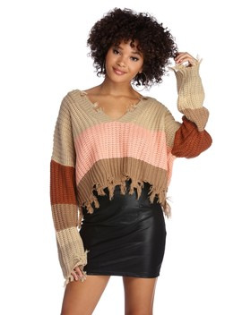 Cold Front Distressed Sweater by Windsor
