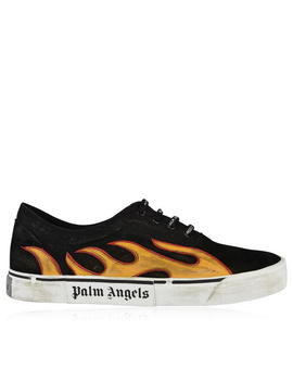 Distressed Flame Trainers by Palm Angels
