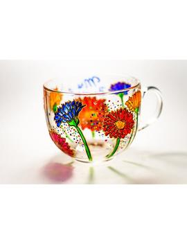 Gerbera Coffee Mug Gift For Grandmother Birthday Gift For Mom Friend Gigi Mug by Etsy