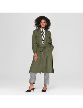 Women's Trench Coat   Who What Wear™ Olive by Who What Wear