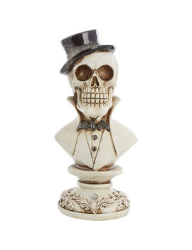 Cream Skull Statue 26x13cm by