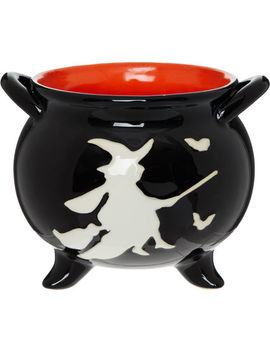 Black & White Cauldron Bowl 19x15cm by