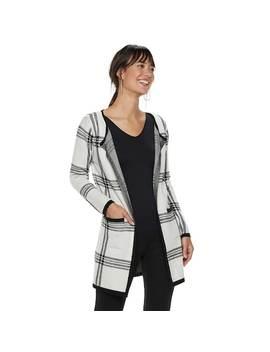 Women's Elle™ Print Open Front Long Cardigan Jacket by Kohl's
