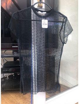 Urban Outfitters Black Sheer Polka Dot Top Uk M by Ebay Seller