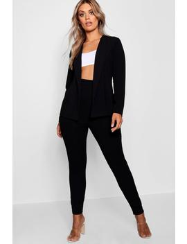Plus Crepe Fitted Suit by Boohoo