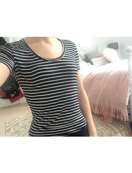 Brandy Melville Black And White Stripe Soft T Shirt Top by Ebay Seller