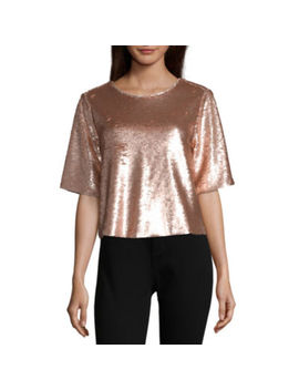 Peyton & Parker Sequin Tie Back Tee by Peyton & Parker