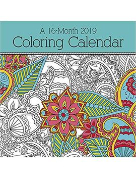 2019 Coloring Calendar Wall Calendar by Trends International