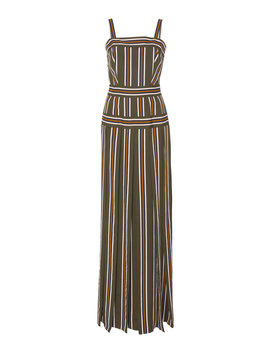 Pleated Stripe Long Dress by Martin Grant
