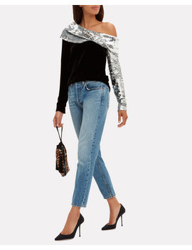 Sequin Twist Top by Monse