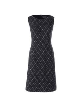 Lands' End   Multi Womens Petite Windowpane Check Ponte Dress by Lands' End