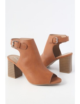 Otto Rust Peep Toe Booties by Lulu's