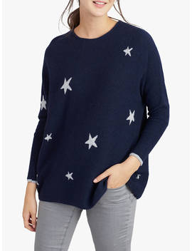 Joules Kellie Star Jumper, Blue/Grey by Joules