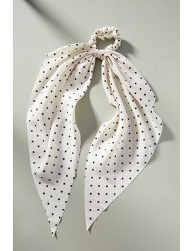 Mae Dotted Scarf Ponytail Holder by Anthropologie