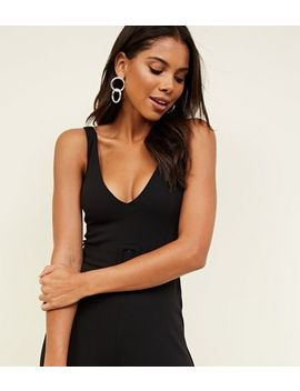 Black Belted Wide Leg Jumpsuit by New Look