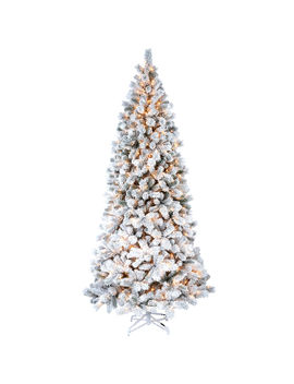 D28 9ft Pre Lit Haven Flocked Pine Christmas Tree by At Home