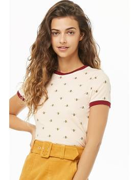 Bee Print Top by Forever 21