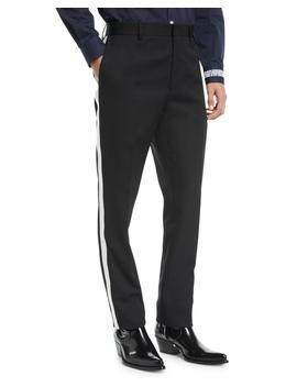 Men's Mwpa12 Two Tone Side Stripe Wool Pants by Calvin Klein 205 W39 Nyc