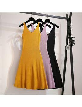 Vanci   Sleeveless A Line Midi Knit Dress by Vanci