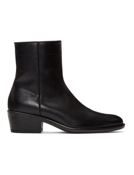 Black Polished Boots by Haider Ackermann