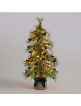 Pre Lit Faux Tree With Gold Berries by World Market