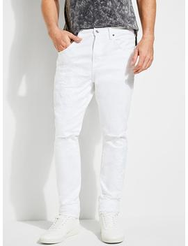 Crackle White Skinny Jeans by Guess