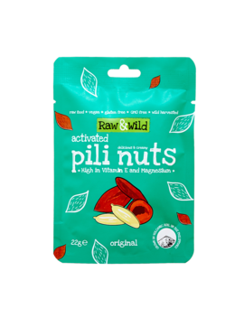 Raw & Wild Original Activated Pili Nuts 22g by Raw & Wild Original Activated Pili Nuts 22g