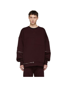 Red Zip Sweatshirt by Alexander Mcqueen
