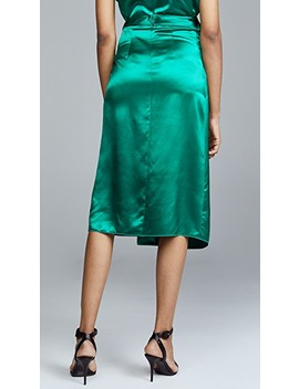 Silk Satin Tie Skirt by Dion Lee
