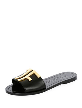 Tf Flat Slide Sandals by Tom Ford