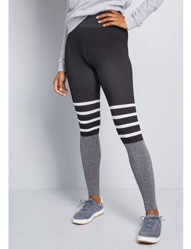 Downtime Redesign Striped Leggings by Modcloth