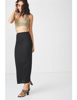Rib Maxi Skirt by Supre