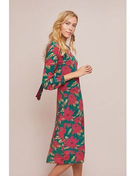 Poinsettia Silk Dress by Seen Worn Kept