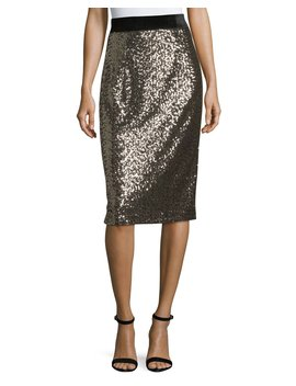 Sequined Midi Pencil Skirt by Neiman Marcus