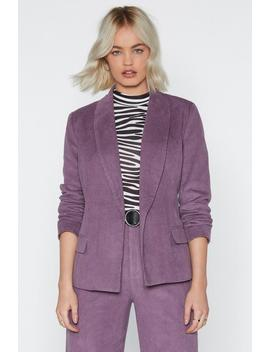 Cord Longline Blazer Jacket by Nasty Gal