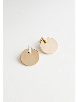 Pearl Disc Earrings by & Other Stories