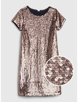 Flippy Sequin Short Sleeve Dress by Gap
