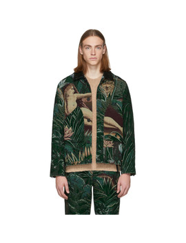 Green Jacquard Memento Jacket by Kenzo