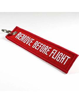 Remove Before Flight Double Sided Embroidered Fabric Keychain Ring Key Chain Aviation Atv Utv Motorcycle … by Amazon