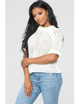 Follow Me Sweater   White by Fashion Nova