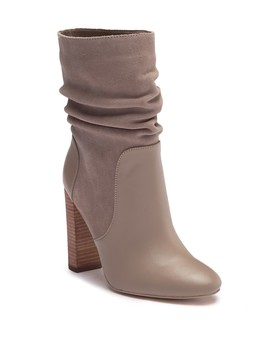 Indy Slouchy Suede & Leather Block Bootie by Charles David