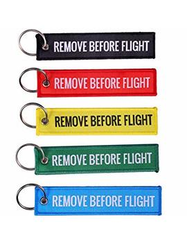Tomcrazy 1 Piece Remove Before Flight Double Sided Embroidered Fabric Keychain Ring Key Chain Aviation Atv Utv Motorcycle Pilot Crew Tag Lock Novelty Keychains Apparel Accessories (Yellow) by Amazon