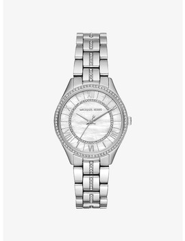 Mini Lauryn Pavé Silver Tone Watch by Michael Kors