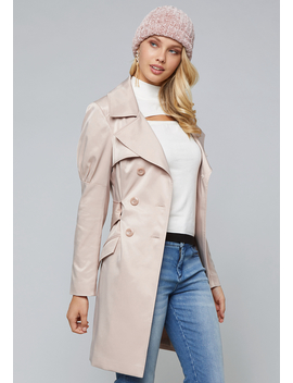 Dressy Trench Coat by Bebe