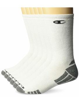 Hanes Men's 6 Pack Champion High Performance Crew Sock by Amazon