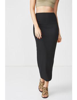 Rib Maxi Skirt by Cotton On